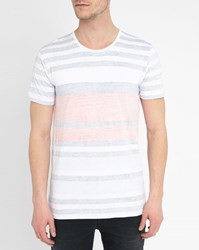 Minimum Red And Navy Striped Bamford Double Face T Shirt