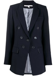 Veronica Beard Classic Fitted Blazer Blue
