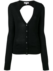 Io Ivana Omazic Elongated Sleeves V Neck Cardigan Women Silk Viscose 40 Black