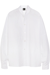 1205 Oversized Cotton And Linen Blend Shirt