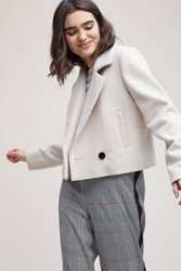 Selected Emme Double Breasted Jacket Beige