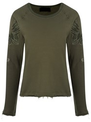 Andrea Bogosian Embroidered Sweatshirt Green