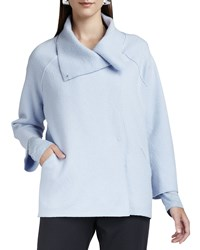 Eileen Fisher Boiled Wool Coat Delphinium Blue