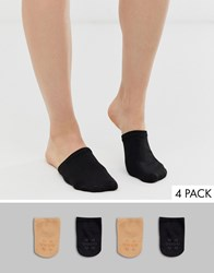 Gipsy Mule 2 Pack Sock In Black And Beige Multi