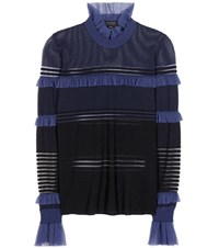 Burberry Turtleneck Sweater Blue