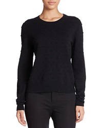 424 Fifth Textured Dot Pullover Black