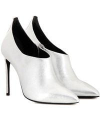 Tom Ford Metallic Pumps Silver
