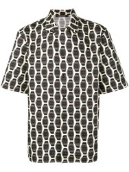 Roberto Cavalli Watch Print Button Up Shirt Neutrals