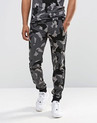 Puma Tapered Joggers In Grey Camo