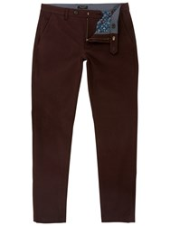 Ted Baker Slim Fit Rustler Trousers Dark Red
