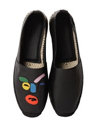 Fendi John Booth Face Leather Espadrilles