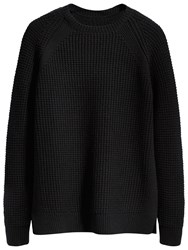 Levi's Made And Crafted Waffle Knit Crew Neck Jumper Black