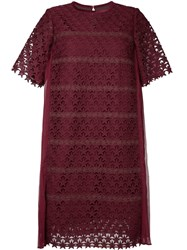Muveil Embroidered Star Shift Dress Women Cotton Nylon Polyester 40