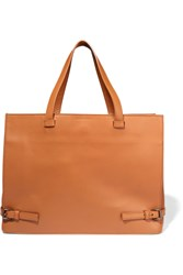 Tomas Maier Leather Tote Brown