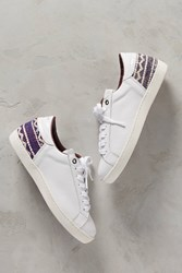 Anthropologie Howsty Zia Kilim Sneakers White