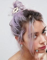 Asos Limited Edition Metal Lips Hair Clip Gold