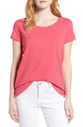 Vineyard Vines Women's Scoop Neck Tee Rhododendron