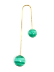 Asherali Knopfer Interchangeable Pearl And Gold Bar Earring Green