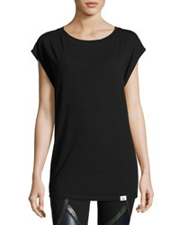 Vimmia Pacific Cap Sleeve Open Back Performance Tee Black