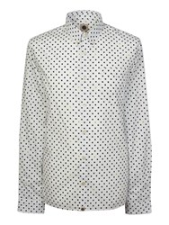 Pretty Green Men's Irwin Polka Dot Shirt White
