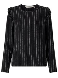 Numph Anneli Stripe Top Caviar