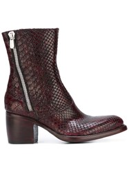 Rocco P. Zipped Ankle Boots Pink Purple