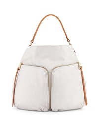 Christopher Kon Double Front Pocket Hobo Bag Alloy