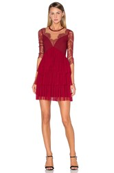 Three Floor Kiki Dress Burgundy