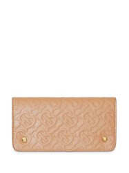 Burberry Monogram Leather Phone Wallet Brown