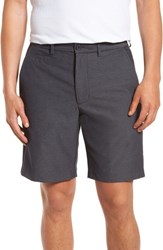 Nordstrom Big And Tall Men's Shop Performance Chino Shorts Grey Onyx Heather