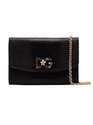 Dolce And Gabbana Black Dg Leather Purse