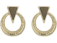 House Of Harlow Hymn Selene Earrings Pyrite Earring Olive