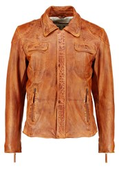 Freaky Nation Cansas City Leather Jacket Cognac