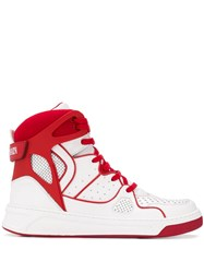 Balmain Keith High Top Sneakers White