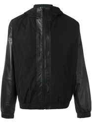 Mcq By Alexander Mcqueen Hooded Windbreaker Black