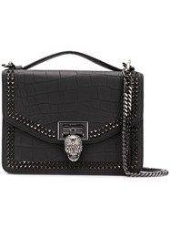 Philipp Plein Skull Embellished Tote Bag Black