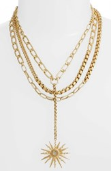 Vince Camuto Layered Chain Statement Necklace Gold