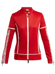 Moncler Maglia Jersey Stretch Track Top Red
