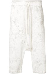 Lost And Found Rooms Buttoned Shorts Cotton Spandex Elastane White