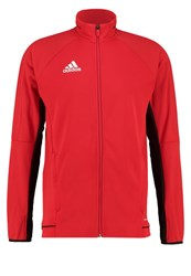 Adidas Performance Tracksuit Top Scarle Black White Dark Red