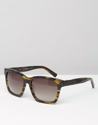 Karl Lagerfeld Square Sunglasses Brown Marble Brown Green