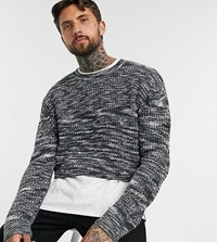 Reclaimed Vintage Cropped Knit Grey