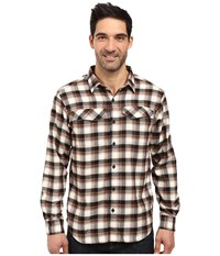 Columbia Silver Ridge Flannel Long Sleeve Shirt Black Mid Plaid Men's Long Sleeve Button Up