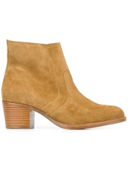 A.P.C. Panelled Ankle Boots Brown