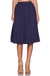 Michael Stars A Line Skirt Navy