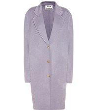 Acne Studios Landi Wool And Cashmere Coat Purple