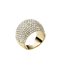 Michael Kors Pave Gold Tone Dome Ring