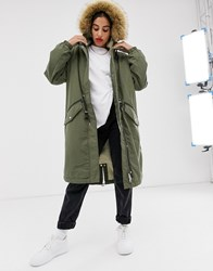 Tommy Jeans Parka Coat Green