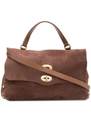 Zanellato Postina Jones Shoulder Bag Brown