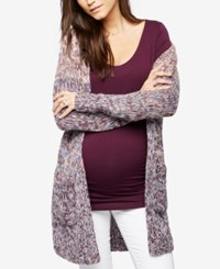 A Pea In The Pod Maternity Open Front Cardigan Pink To Blue Ombre